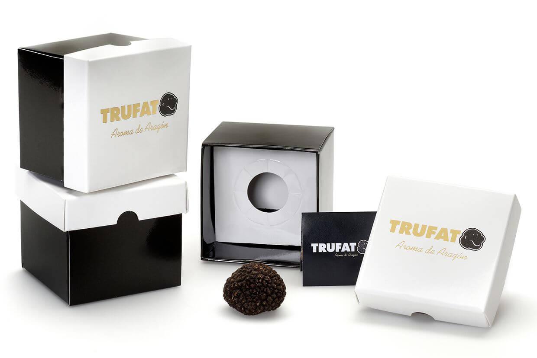 Trufato se presenta en un envase elegante y exclusivo