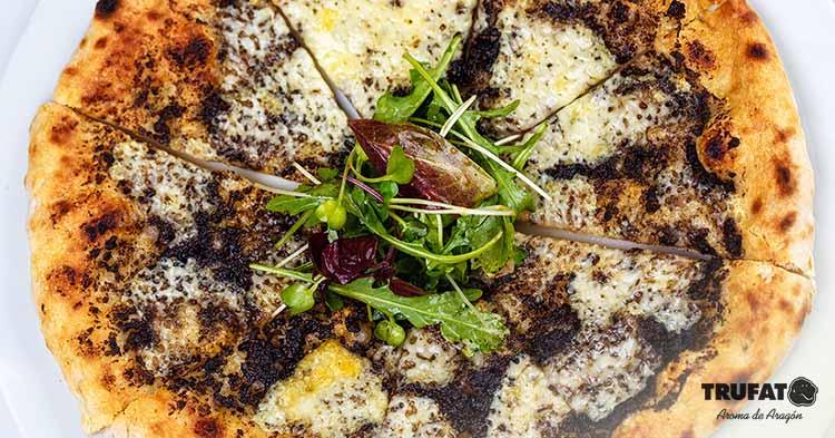 Receta pizza de trufa negra